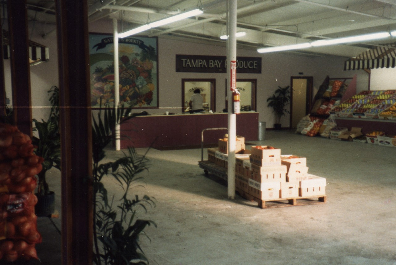 Interior View of the Tampa Bay Produce Cashier System